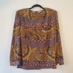 Vintage blouse paisley size 12